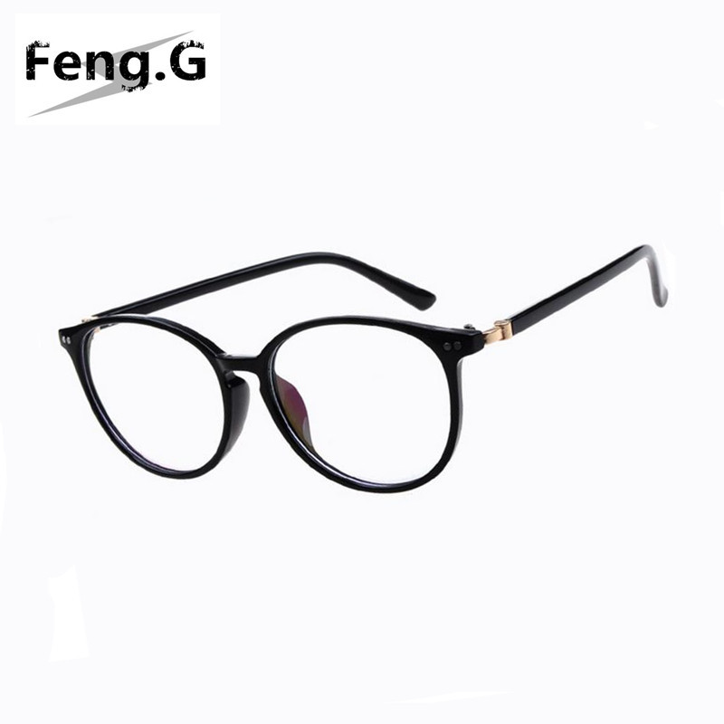 New arrival Women round oval eyeglasses frame high grade light weight solid color Spectacles plain glasses vintage retro design(China (Mainland))