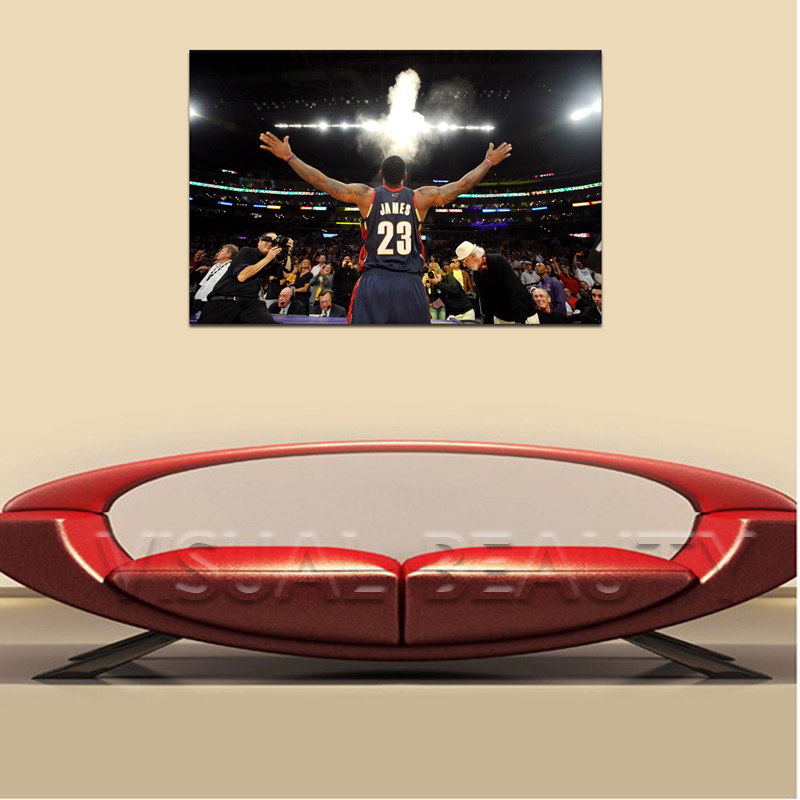 FREE SHIPPING Lebron James Number 23 Quality Canvas Paintiing Support Base Christmas Decor(Unframed)60x90cm(China (Mainland))