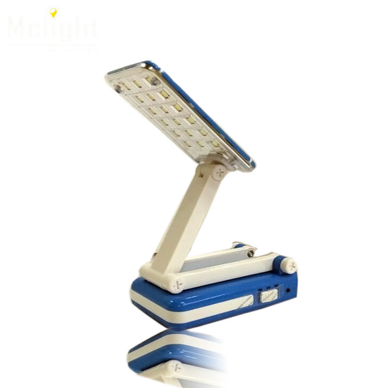 Flexible Blue LED Table Lamp Rechargeable Foldable and Adjustable Eyecare Built-in LED Desk Lamp for Student Study Night light(China (Mainland))