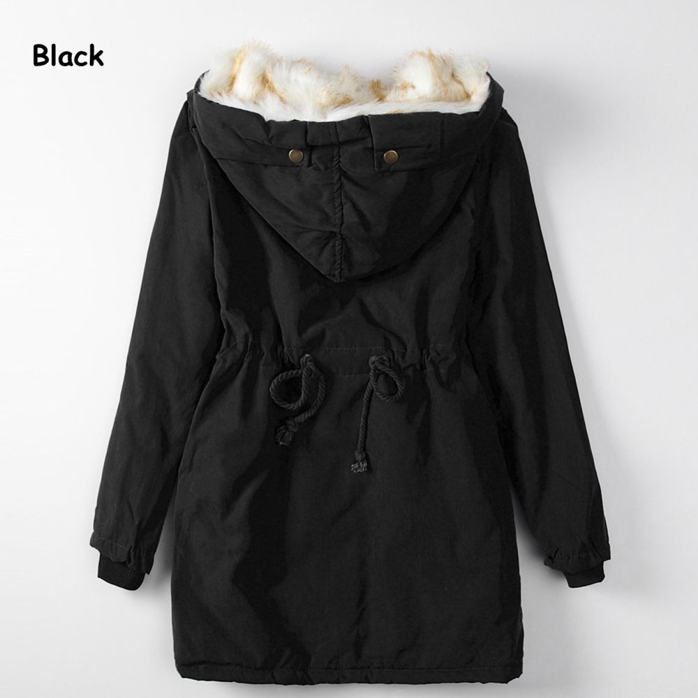 Women's Fashion Cotton Coat 2016 Winter Warm Thick Hooded Long Jacket Female Slim Elegant Parkas Plus Size Winter Outwear