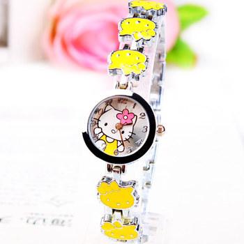 Fashion brief elegant HELLO KITTY hellokitty cat women's bracelet watch 163476 free shipping