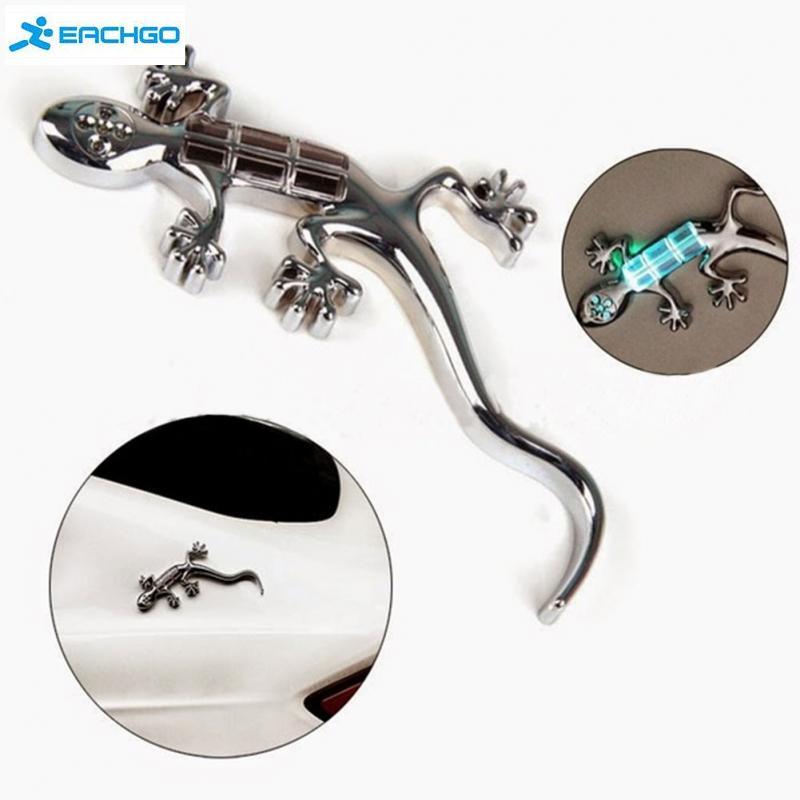 5 из светодиодов геккон солнечной энергии флэш-сигнализации авто наклейки украшения сигнальная лампа свет
