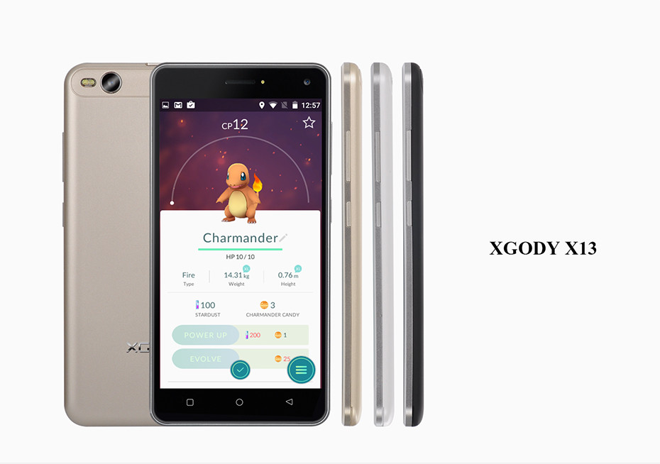 XGODY X13 5.0 inch Smartphone MTK6580 Quad Core 1GB RAM 8GB ROM Mobile Cell Phone Dual SIM 5.0MP Unlocked with FREE 8GB TF Card