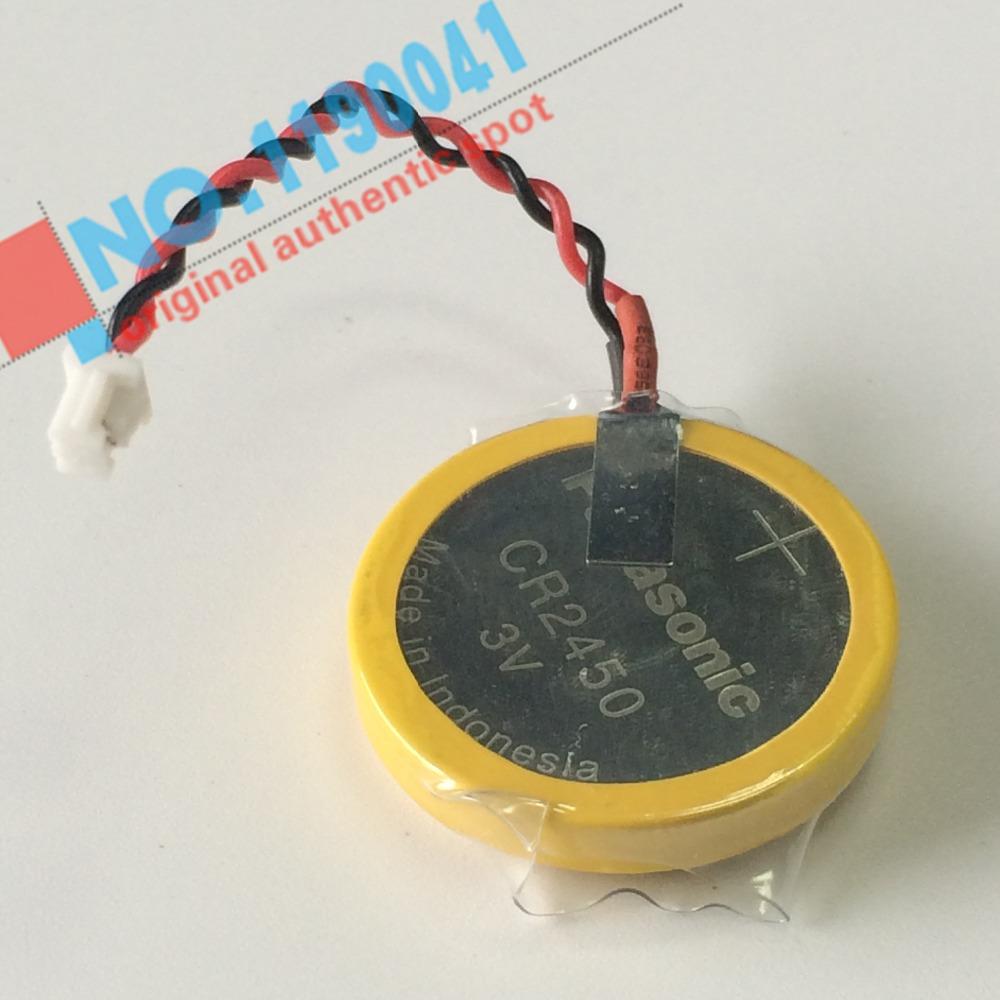 50PCS/LOT New Panasonic CR2450 battery solder pin plug wire bonders CR2450 3V AFPX-BATT FP-X Series PLC Batteries
