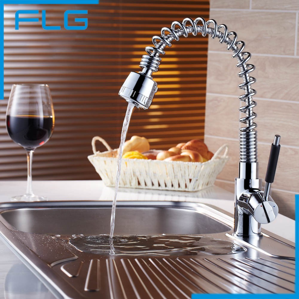 Free Shipping pull out faucet swivel kitchen sink Mixer tap brass chrome basin water tap kitchen faucet kitchen torneira