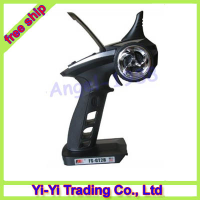 Free shipping!!Flysky FS-GT2B 2.4G 3CH Remote Radio Controller Transmitter + Receiver