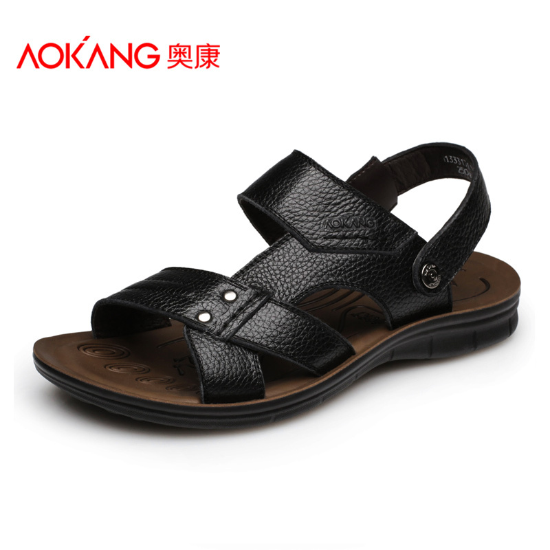Aokang Men's Sandals Genuine Leather
