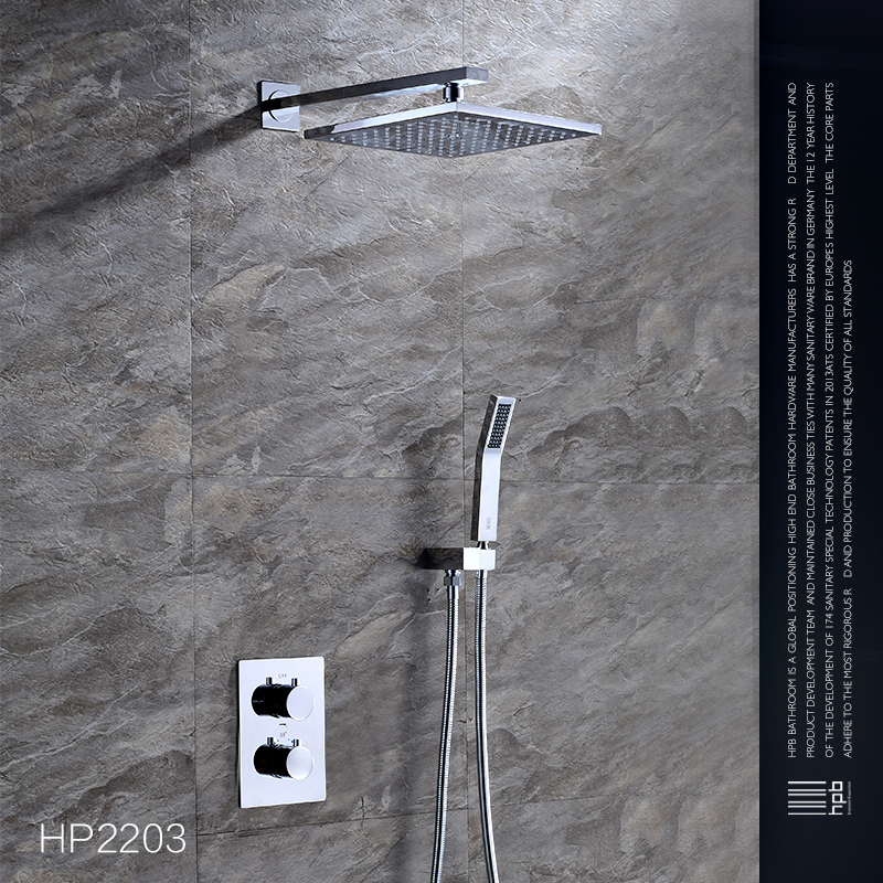 HPB Brass Thermostatic Bathroom Mixer Wall / Ceiling Mounted Shower Set Faucet torneira HP2203(China (Mainland))
