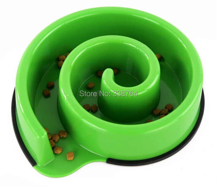 Pet dogs feeders/ prevent being choked/ bowl silicone feeding bowls / Slow eat pet bowls(China (Mainland))