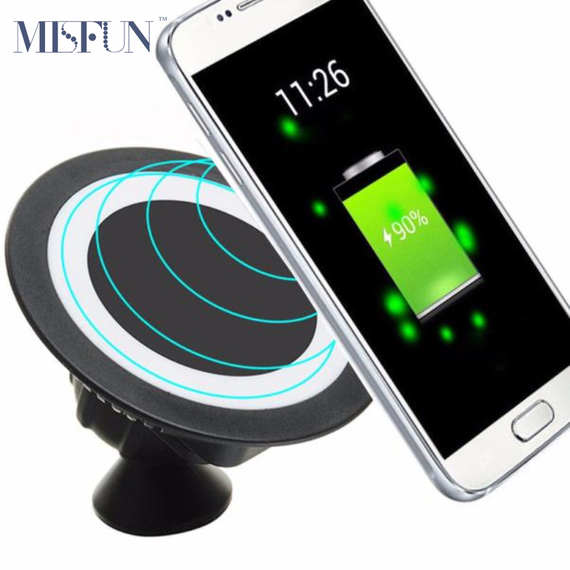 Universal Qi Car Wireless Charger Pad Dock with Receiver for iPhone 5 5s6 6s Plus Samsung S7 Magnetic 360 Car Mount Phone Holder(China (Mainland))