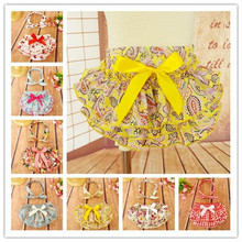 Newborn Baby  cotton Bowknot  Ruffle Bloomers PP Shorts Pants  Skirt   Printing Knot Tie  Headwrap Vintage  Headband(China (Mainland))