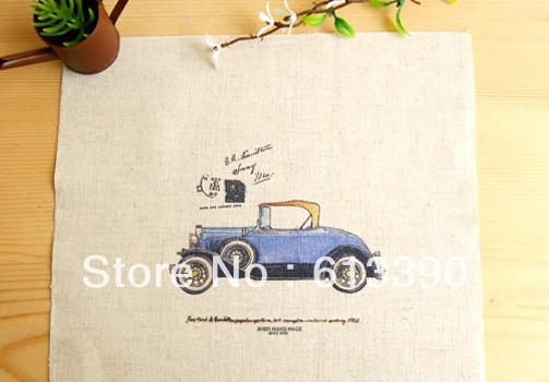Free shipping 2013 New Arrival cotton/linen fabric for DIY blue Classic cars 20*20cm Hand dyeing perfect for patchwork NO.FC57(China (Mainland))