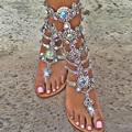 women sandal 2017 fashion summer women shoes sandals with rhinestones sandalia feminina women shoes plus size