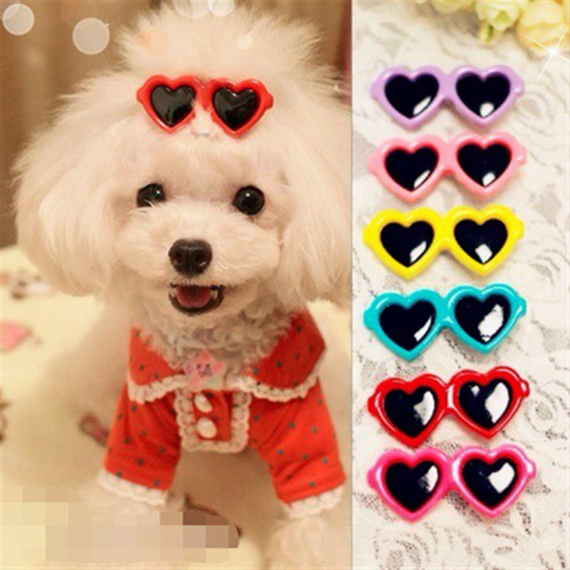 30pcs/Lot Cute Pet Dog Cat hair bows grooming supplies Doggy Puppy hair clips hairpin teddy sun glasses hair accessory CW-80134(China (Mainland))