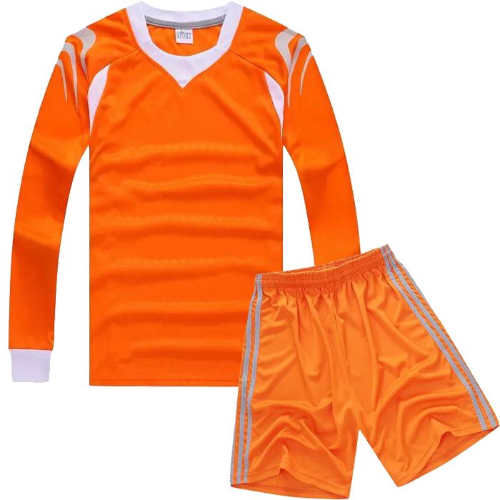 custom made kids long sleeve blank soccer jersey children football team jersey.(China (Mainland))