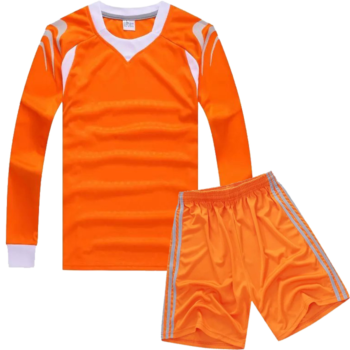 custom made kids long sleeve blank soccer jersey children football team jersey.(China (Mainland))
