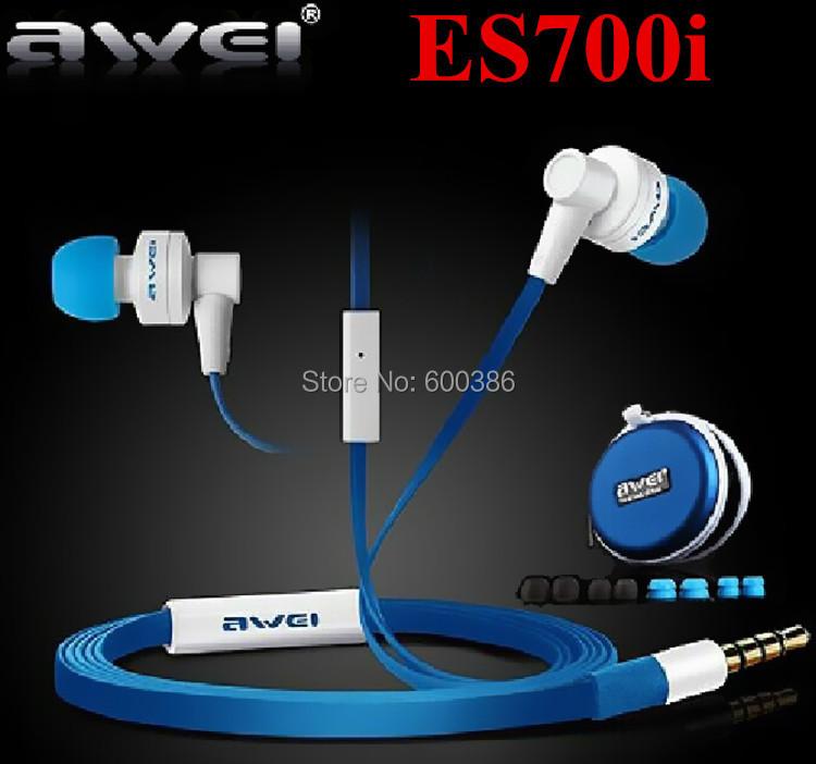 Genuine Brand Awei ES700i Earphones Noise Cancelling+Mic+Answer Phone Metal Super Bass Headphone iPhone Freeshipping - Dwill E-Commerce Co., Ltd store