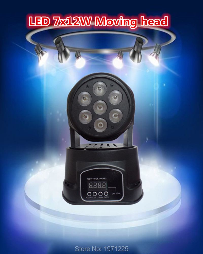 Advanced dj moving head lights led wash mini 7/12 channels rgbw quad with advanced 14 channels(China (Mainland))