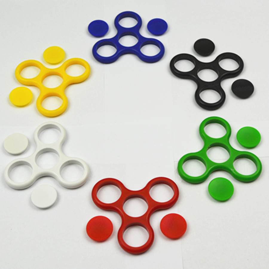 Tri-Spinner Fidget Plastic Frame Without Bearings EDC Fidget Spinner For Rotation Time Long Bearing Anti Stress Keep Hands Busy