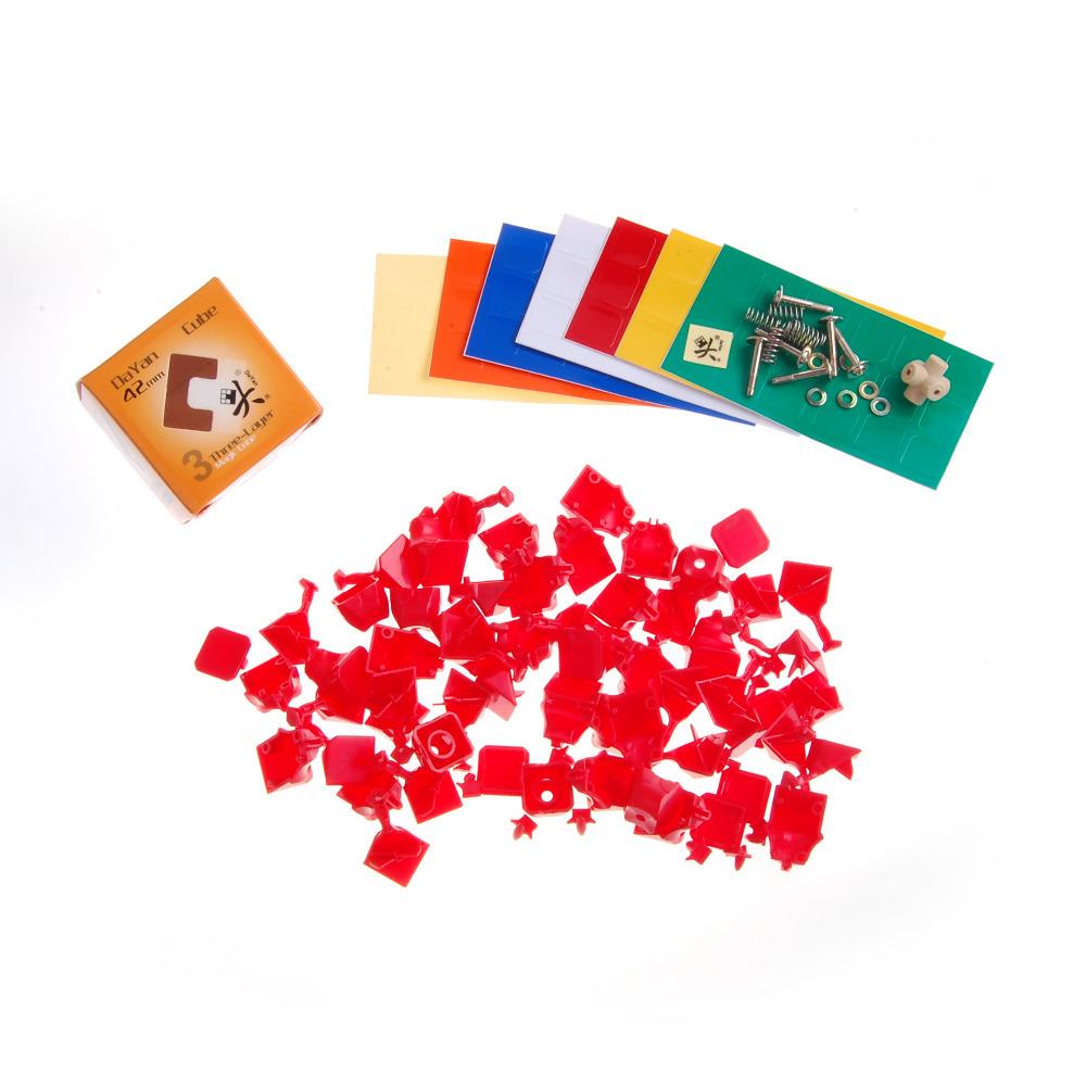 Free shipping! Dayan Mini ZhanChi 42mm Magic Cube Puzzle Cube Red DIY(China (Mainland))