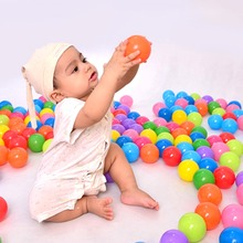 100 pcs/lot Eco-Friendly Colorful Ball Soft Plastic Ocean Ball Funny Baby Kid Swim Pit Toy Water Pool Ocean Wave Ball