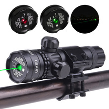 New Tactical Outside Cree Green Dot Laser Sight Adjustable Switch Rifle Scope With Rail Mount For Gun Hunting