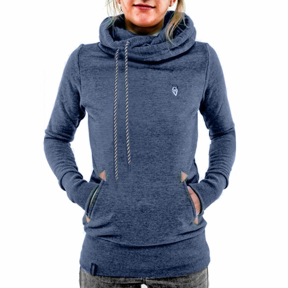 Casual Hooded Long Sleeve Sweatshirt Women Hoodies Pocket Design Embroidered Hoodie For Women Sudaderas Mujer Fashion Sportswear(China (Mainland))