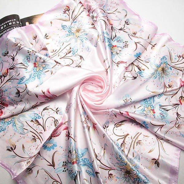 90 см * 90 см Новый стиль шарфы урожай женщины цветочные шарфы весна осень пашмины шали, Бесплатная доставка 80083