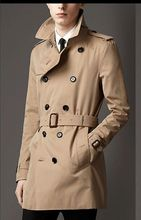 2016 new arrival  trench fashion double breasted coat fashion high quality men's medium-long plus size S- 4XL5XL 6XL 7XL 8XL 9XL(China (Mainland))