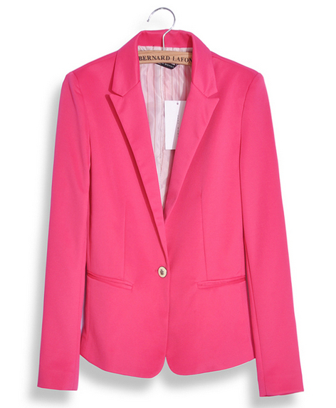 Fashion Jacket Blazer Women Suit Foldable Long Sleeves Lapel Coat Lined With Striped Single Button Vogue Blazers Jackets XL 011(China (Mainland))