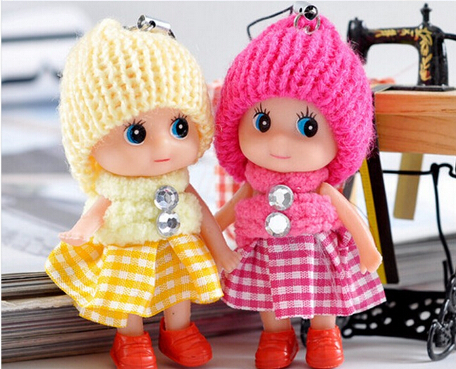 8cm Cute Princess Doll Stuffed Toys / Mini Ddgir /Phone Hanging Christmas Gifts for Girls Children Drop Free Shippin(China (Mainland))