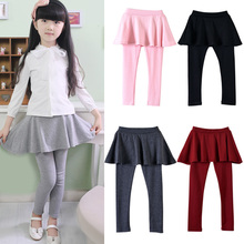 New Arrive Spring Retail girl legging Girls Skirt-pants Cake skirt  girl baby pants kids leggings Skirt-pants Cake skirt Q2305(China (Mainland))
