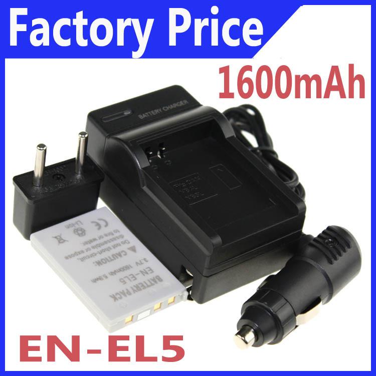 Гаджет  1 Pcs EN-EL5 ENEL5 Battery+Charger+Car charger+Plug adapter for Nikon Coolpix P90 P100 P500 P510 P520   Drop shipping None Электротехническое оборудование и материалы