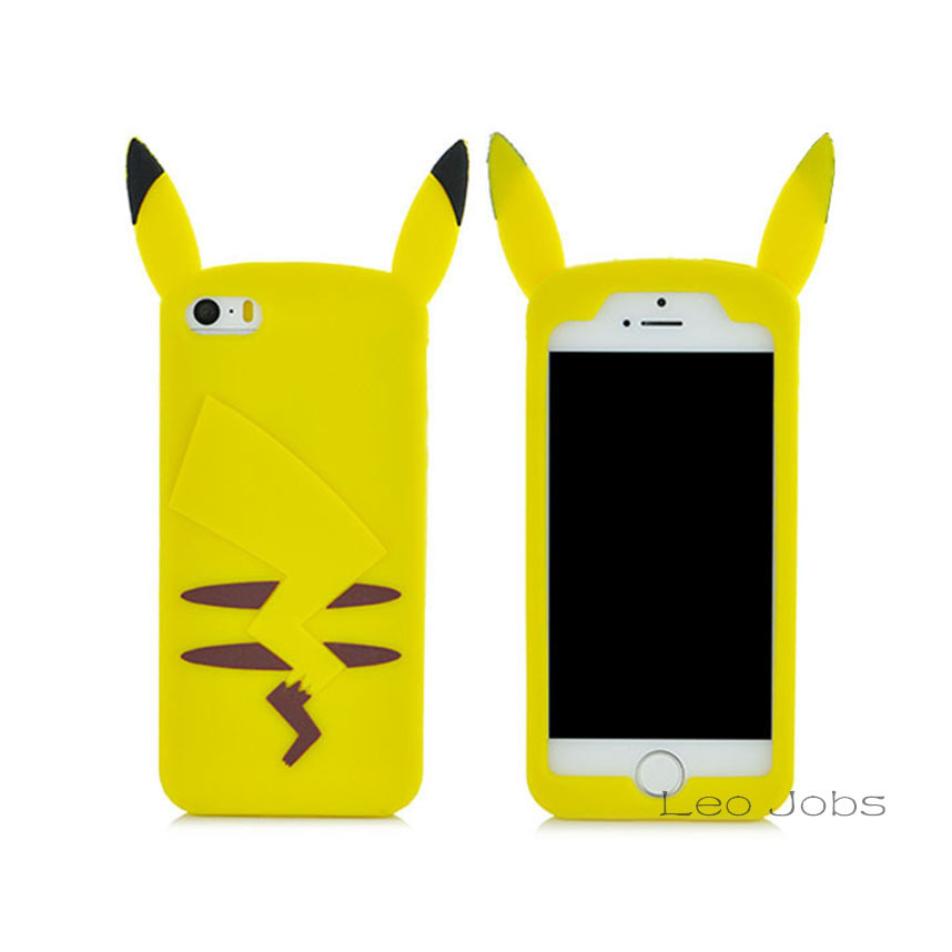 iPhone 4 4S 5 5S SE 6 6S 6Plus 6SPlus 3D Cute Cartoon Soft Silicon Phone Back Cover Case Samsung Note 3 S5 - LOVECOM Store store