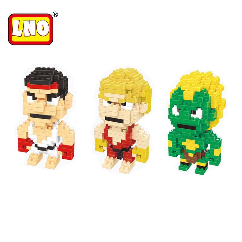 LNO nano blocks manufacturer small plastic building bricks miniature action figures ABS cartoon model diy educational toys kids.(China (Mainland))