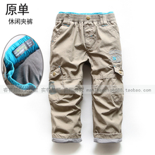 2016 new spring autumn winter European style boys letter cotton-padded pants kids leisure sports Original trousers(China (Mainland))