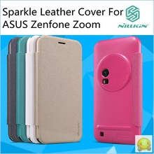 Brand Nillkin Sparkle Smart Filp Leather Cover For Asus Zenfone ZOOM ZX551ML With Retail Box(China (Mainland))