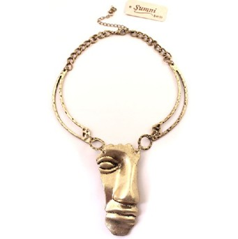 Cheap Price New Style Antique Alloy Necklace Mask Punk Necklace(China (Mainland))
