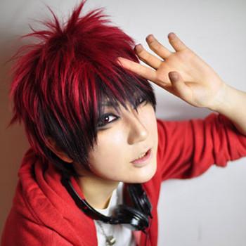 Kuroko no Basuke/Strawberry Basket Cosplay Wig Kagami Taiga Short Red Gradient