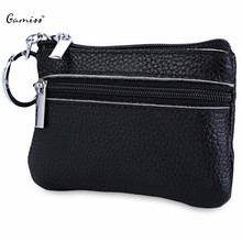 2016 New Hot Sale Solid Color Leather Zipper Horizontal Coin Purse For Men Women Horizontal Special Beauty Design(China (Mainland))