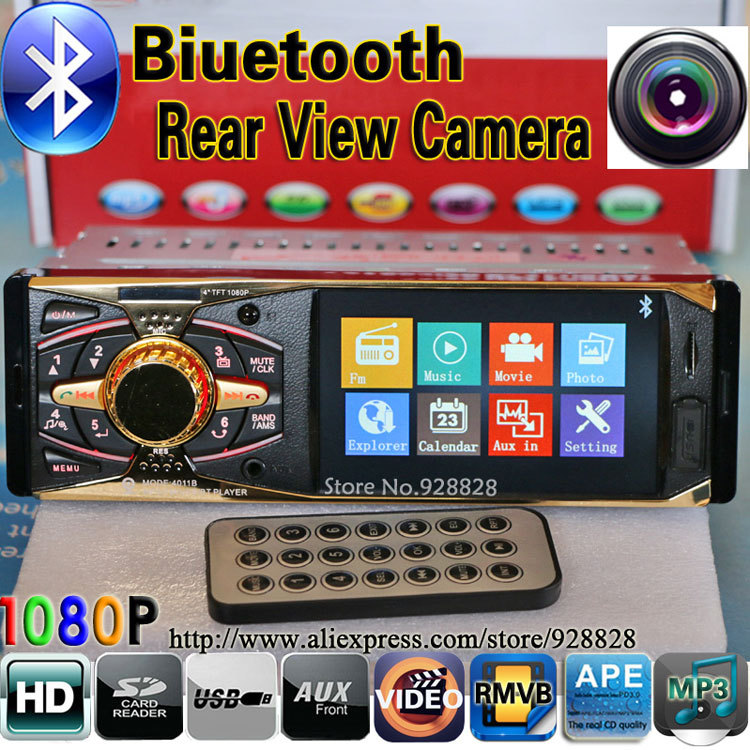 4.0 HD Car MP5 Player Supports Bluetooth/Rear view camera/1080P/Stereo FM Radio/5V Charger/MP3/MP4/Audio/Video/Electronics/auto(China (Mainland))