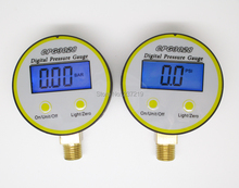 0-10bar G1/4 brass port Battery-Powered digital pressure gauge ,gas pressure psi/Bar/ kg/m2/Kpa 4units CPG3028(China (Mainland))