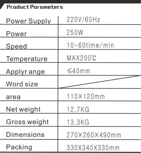 1pcs ZY-110 manual caliente estampado de papel de aluminio manual de la máquina de sello de grabación en relieve de cuero máquina de área de impresión 110*120MM