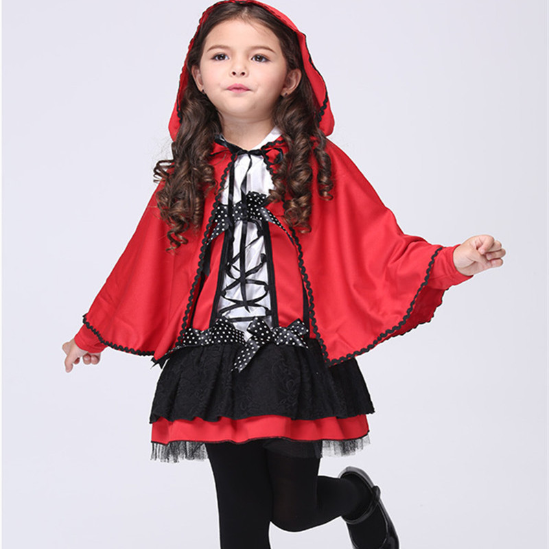 2016 New Halloween Costumes for Baby Girl Fantasty Red Evil Christmas Costumes 2pcs Cotton Kid Girls Witch Cosplay Clothes 2-8Y<br><br>Aliexpress