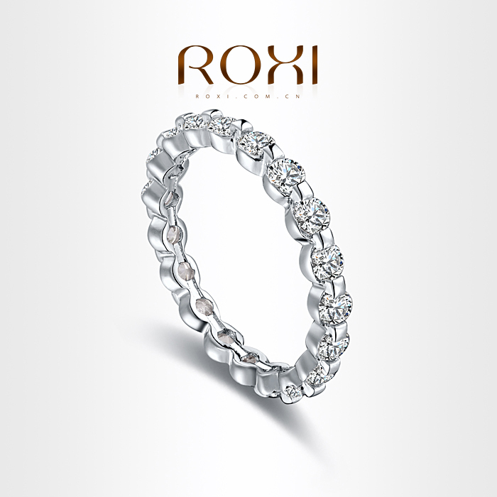 ROXI christmas gift classic Rings platinum plated with AAA zircon,fashion Environmental Micro-Inserted Jewelry,101033324(China (Mainland))
