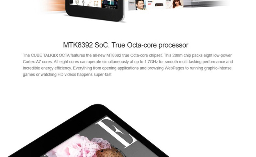 Планшетный ПК Talk8x 8 x 3G tablet pc MTK8392 8/ips 1280x8001GB 8GB Bluetooth U27gt