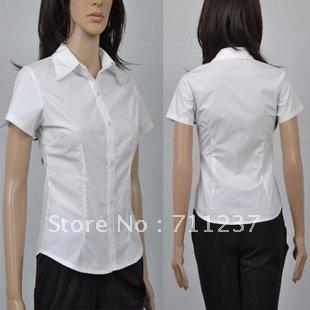 Free transport chun xia hold new professional short for No iron white shirt womens