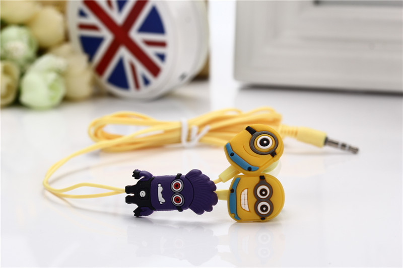 Top Cartoon earphone minions Despicable Me superman in-ear headset 3.5mm Avengers jake stereo headphones for iphone5 Samsung E05