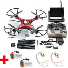 Free Shipping! JJRC H8D Real-time FPV RC Quadcopter Drone W/HD Camera + 2 Battery + 4 Motors