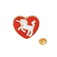 Kartun Cinta Hati Enamel Pin Bros Merah Merah Muda Kuda Panah Jantung Gerakan Kerah Pin Mantel Lencana Fashion Perhiasan untuk Anak-anak wanita(China)